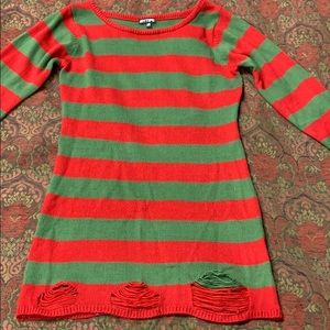 Hot Topic Freddie Kruger sweater dress Large